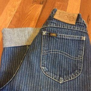 Vintage 80s Pinstripe Lee Jeans